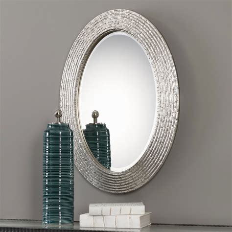 Uttermost Mirrors Oval by Uttermost Conder Oval Silver Mirror 09356 Bellacor