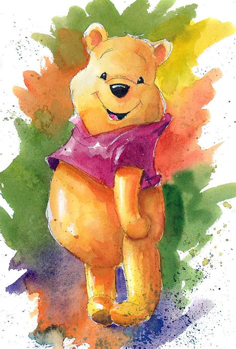 winnie the pooh painting winnie the pooh painting by andrew fling