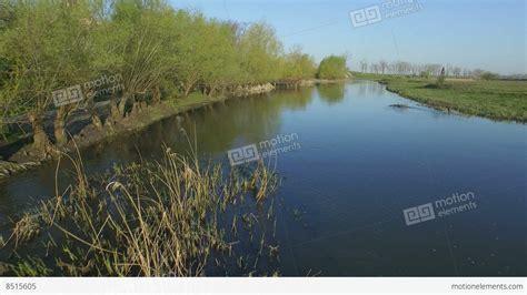 drone with pontoons drone shot of pontoon bridge stock video footage 8515605