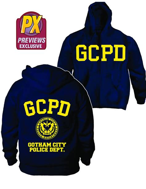 Kaos Gcpd Gotham City Heroes join the gcpd with this awesome new hoodie from previews