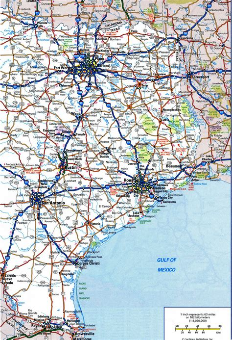 texas road map with cities texas road map