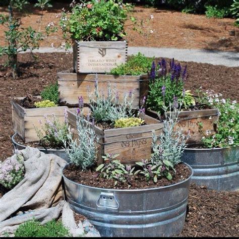 herb garden box wine box herb garden gardening pinterest