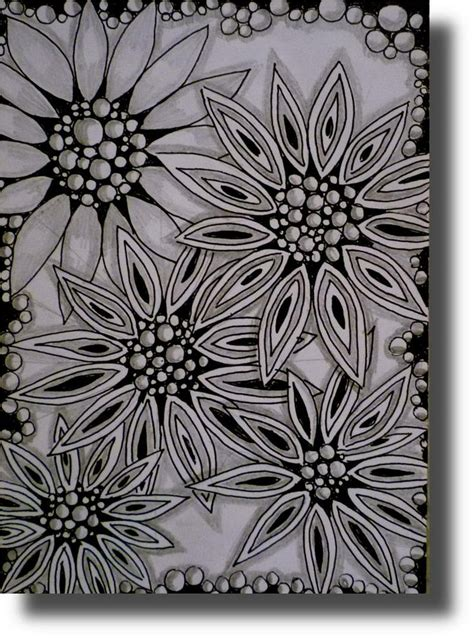 zentangle pattern floral 95 best zentangle flowers images on pinterest doodles