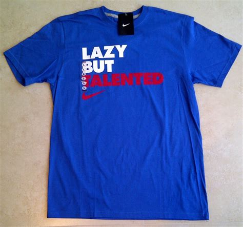 Tshirt Nike Unfair details about nwt nike lazy but talented t shirt