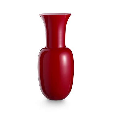 vaso rosso opali vaso rosso vasi in vetro di murano i muranesi