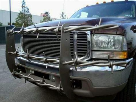 barbed wire for power stroke push bar bumper trucks
