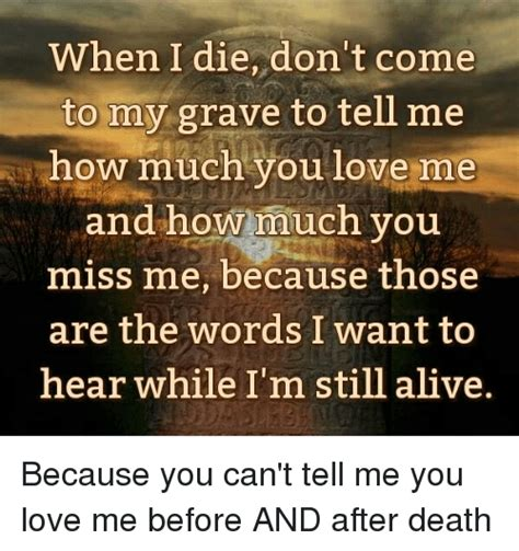 Novel I M You Die For Me when i die don t come to my grave to tell me how much you me and how much you miss me