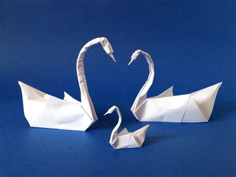 Origami Swan For - origami swans and swanling