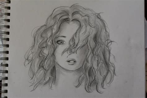 sketches of hair curly hair sketch by patchesvongore on deviantart