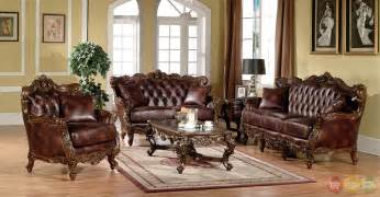 Dark wood formal living room sets with carved accents rpcmo93