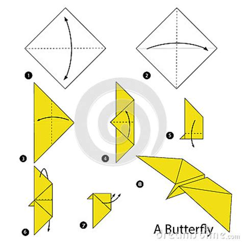 How To Make A Paper Butterfly Step By Step - step by step how to make origami a butterfly