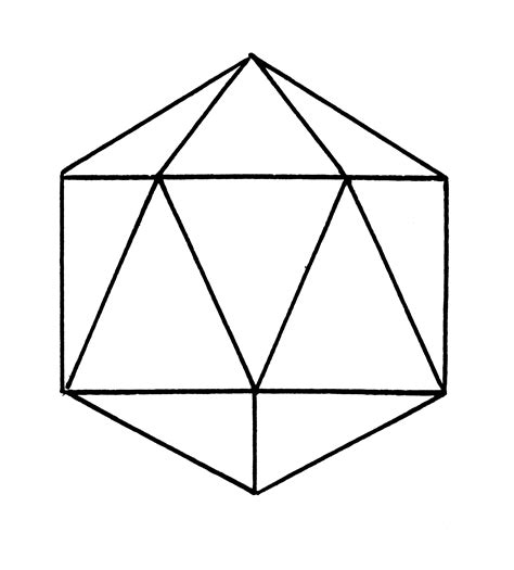 icosahedron template out of darkness
