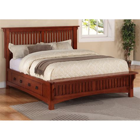 solid wood queen headboard mission wood platform storage bed by michael ashton