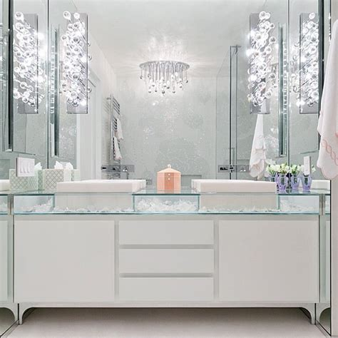 glass top vanity bathroom modern