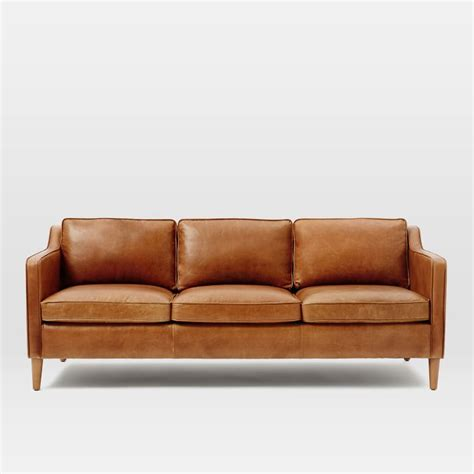 modern leather couch tan leather sofas i love all these fun and modern leather