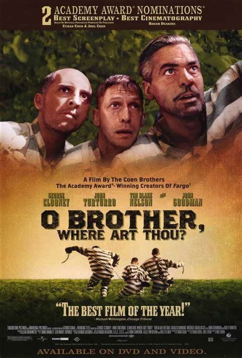 O BROTHER WHERE ART THOU? Movie POSTER B 27x40 George ... O Brother, Where Art Thou Movie Poster