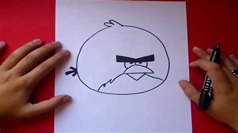 como dibujar un pajaro como dibujar el pajaro rojo gigante paso a paso angry