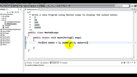 Java Pattern Nested Groups | using nested loops java tutorial youtube