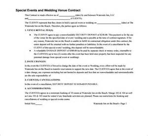wedding contract template 18 download free documents