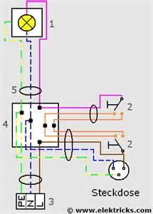 le mit 2 schaltern steckdose an wechselschaltung anschliessen elektricks