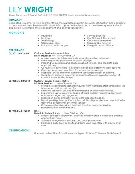 customer service representative resume sample resume templates