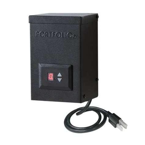 Landscape Lighting Transformer With Timer Shop Portfolio 60 Watt 12 Volt Multi Tap Landscape