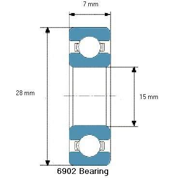 Bearing 6902 Dd Nsk 6902 bearing drawing