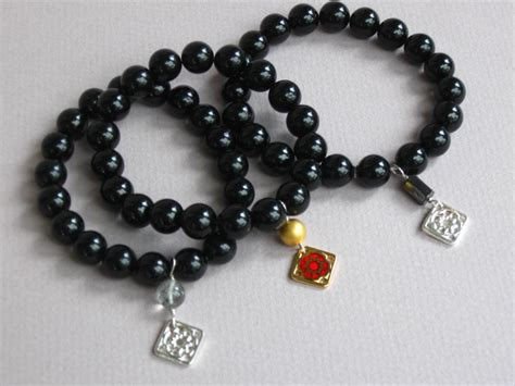 black bead bracelet meaning pictures of my 10mm 19 black tourmaline bracelet