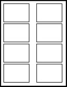 four panel comic template 2x4 template by template on deviantart