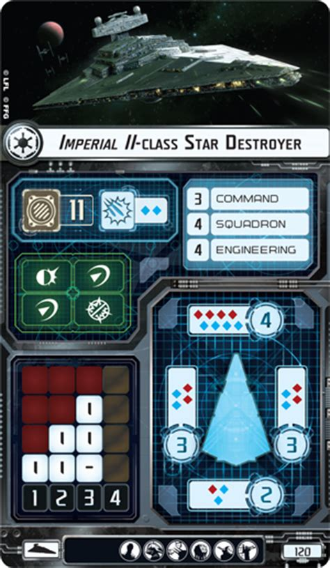 wars ffg ship card template imperial ii class destroyer wars armada wiki