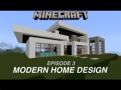 minecraft home design youtube minecraft modern home design ep3 youtube