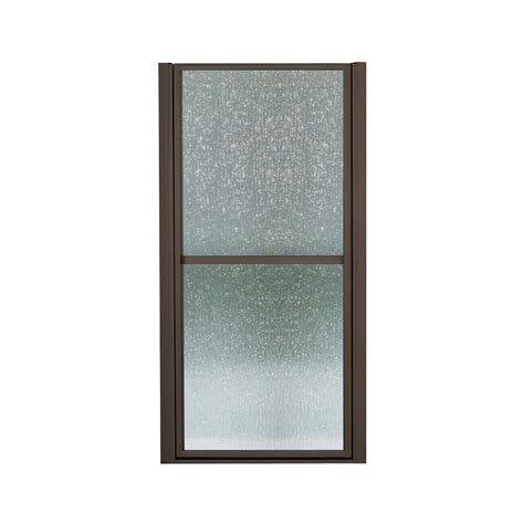 bathroom doors lowes shop sterling 33 in to 36 in frameless hinged shower door