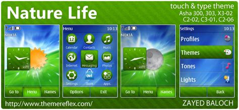 nokia c2 nature themes touch and type themes themereflex