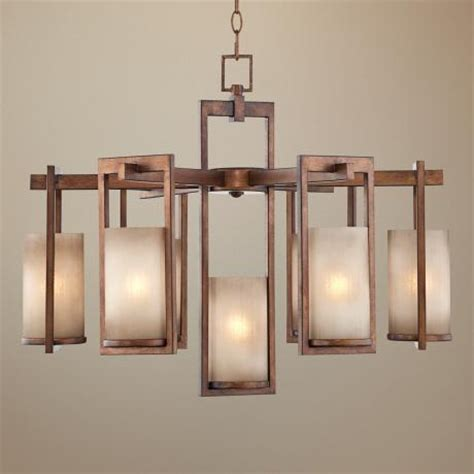Ballard Designs Chandeliers Golden Bronze Rectangles 7 Light Chandelier Decor