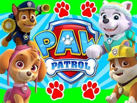 paw patrol nada es 8448844572 kit imprimible paw patrol nene dise 241 a tarjetas invitaci