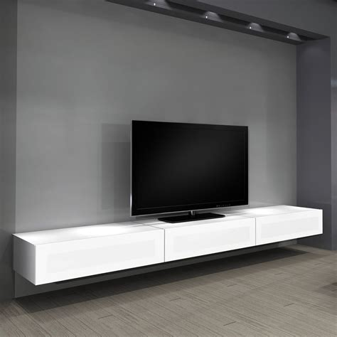 console ikea 387 simple modern floating entertainment tv cabinet with gray