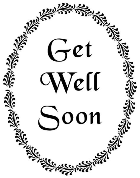 printable card get well soon pinterest the world s catalog of ideas