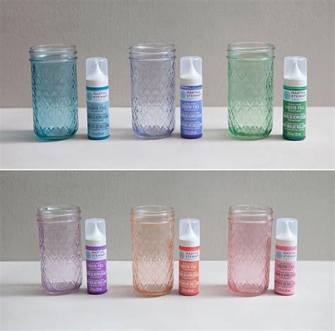 diy tinted jar candles something turquoise