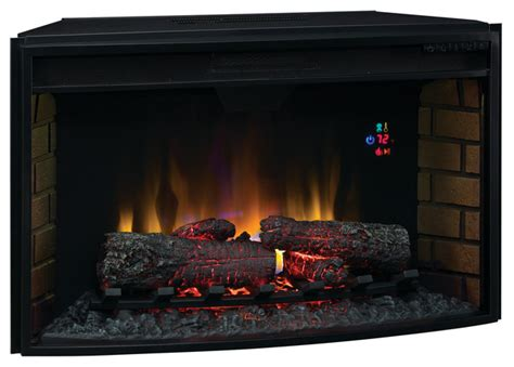 modern indoor fireplace classicflame 32 in spectrafire curved electric fireplace