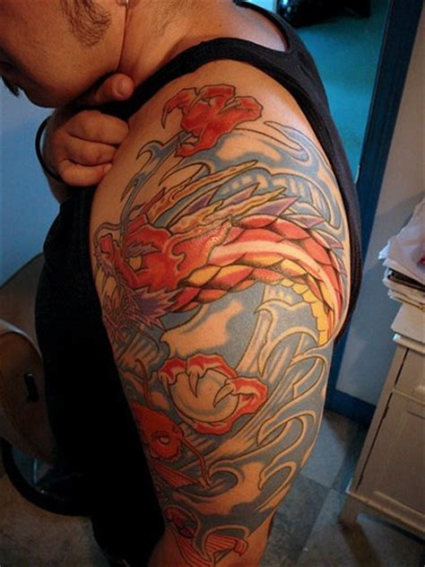 magic dragon tattoo asian with magic sphere tattooimages biz