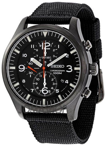Iwc Top Gun Chrono On Semua Black List seiko chronograph black ion s s watches