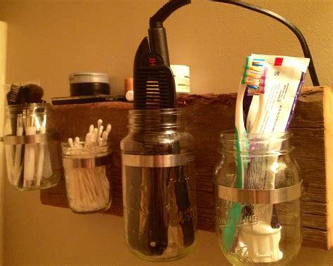mason jar bathroom storage i can pinterest too pinterest