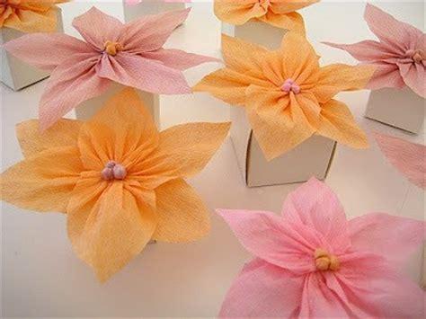flores de crepe sencillas c 243 mo hacer flores de papel crepe manualidades