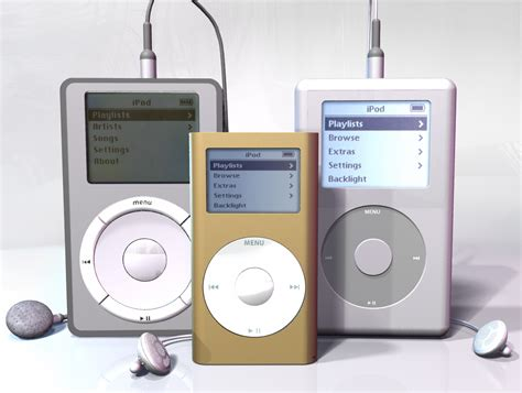 Ipod 3 Buah Collector Item ipod mp3 player collection 3d model