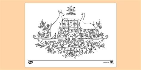 Australian Coat Of Arms Colouring Page Australian Coat Of Australian Coat Of Arms Colouring Page