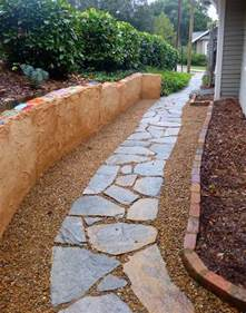 Pea Gravel Walkway Path Concrete In Asheville By