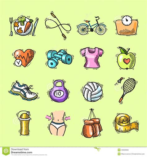 doodle draw icon pack apk colored doodle icons food set vector illustration