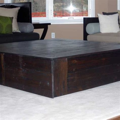60 square coffee table made square reclaimed coffee table quot the monolith quot by
