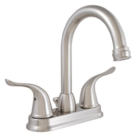 plumb works hi arc two handle lavatory faucet at menards 174