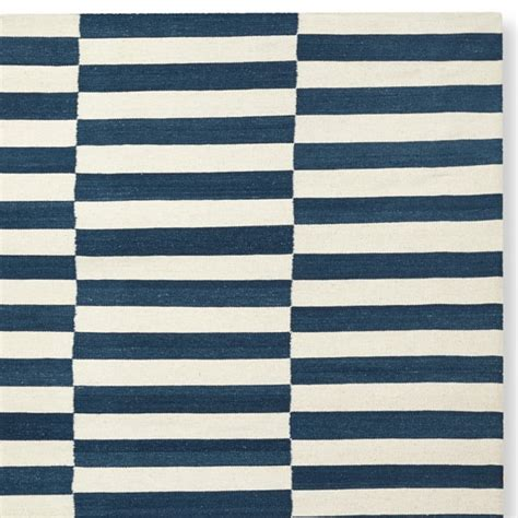 navy stripe rug broken stripe flatweave rug navy williams sonoma
